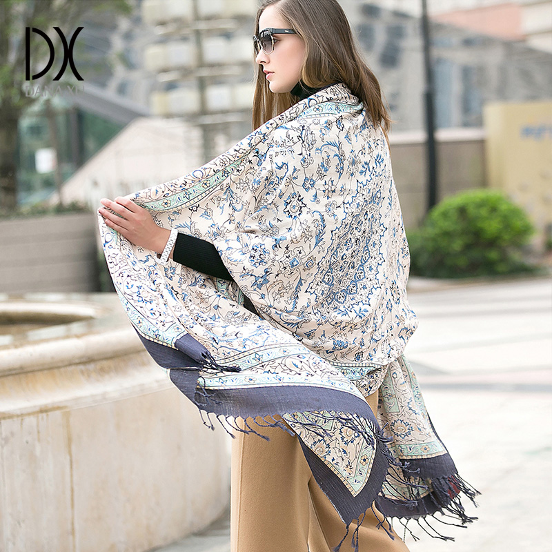 Image 3 - 2019 Fashion Warm Winter Scarf For Women Scarf Luxury Brand Cashmere Large Scarf WrapWomen Blanket Pashmina Shawl Muslim Hijab-in Women's Scarves from Apparel Accessories