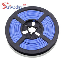 100 meters/roll (328ft) 26AWG high temperature resistance Flexible silicone wire tinned copper wire RC power Electronic cable 14awg soft high temperature silicone wire 0 08mmx400 core wire model aircraft power cable