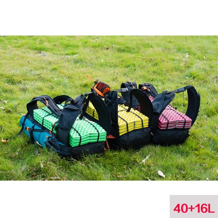Mochila de senderismo resistente al agua con engranaje 3F UL Paquete de Camping ligero para montañismo de viaje mochila de senderismo 40 + 16L - 6