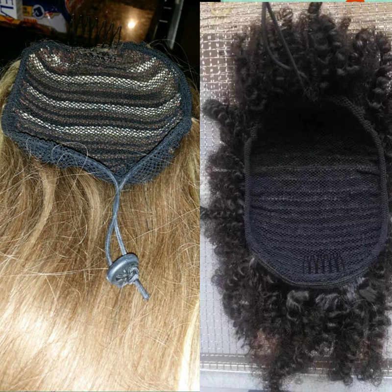 Top Neue 10 teil/los Net, Die Pferdeschwanz Schwarz Farbe Hohe Qualität Haar Net für Machen Pferdeschwanz schwarz frauen haar Werkzeug