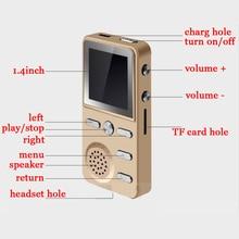 Alta calidad 8 GB Reproductores MP3 fuerte sonido altavoz despertador FM grabadora multifunción HiFi sin pérdida de música 4G jugadores