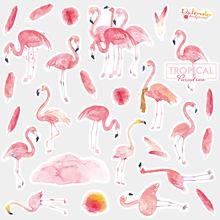Cute Animal Flamingo Dog Cate Sticker Package Cartoon Anime Unicorn Oil Painting Decorative Scrapbooking Sticker DIY Diary Album