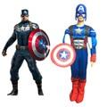 Crianças Criança Muscular Capitão América Vingadores Capitão Trajes Máscaras LED Meninos Roupas Disfraces Super-heróis Do Dia Das Bruxas Cosplay Conjunto