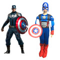 Kids Child America Captain Muscle Avengers Costumes Captain LED Masks Boys Clothing Disfraces Halloween Superhero Cosplay Set
