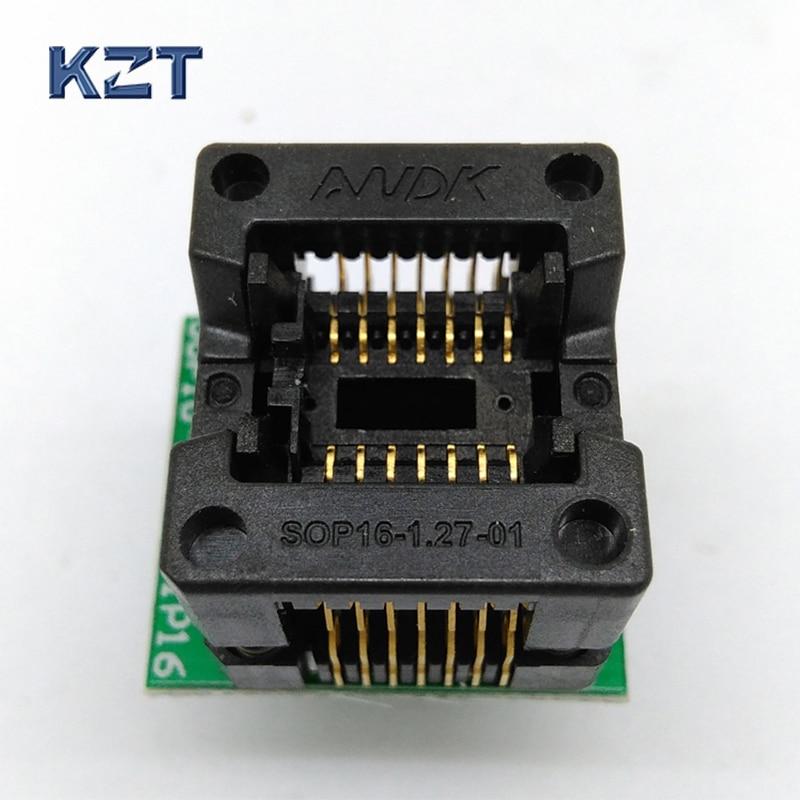 SOP14 SOIC14SO14 To DIP14 Programming Socket Pitch 1.27mm IC Body Width 3.9mm 150mil Test Socket Adapter Programmer