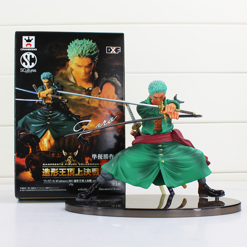 Anime One Piece Roronoa Zoro Sauron Japanese Cartoon Two Years Later One Piece Action Figures PVC Doll Model with box 23cm japanese anime onepiece one piece pop roronoa zoro golden lion theater version black sauron pvc action figure model toy