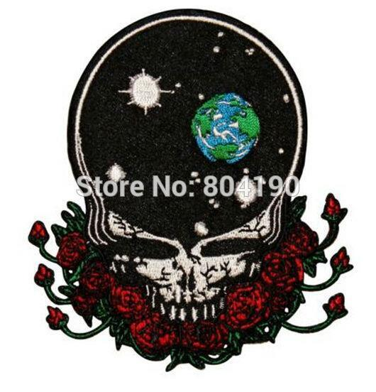 Grateful Dead Space Your Face Music Band Embroidered LOGO Iron On Patch Emo Goth Punk Rockabilly
