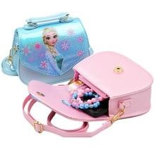 Disney мультфильм ролевые игры замороженная Эльза плечо Принцесса мессенджер женская сумка блестящая PU aslant Сумка Магнитная кнопка