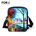 FORUDESIGNS Vintage Women Handbags 3D Painting Printing Children Messenger Bags Baby Girls Crossbody Bags Small Shoulder Bags