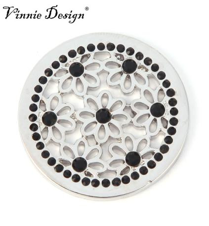 Vinnie Design Jewelry 33mm Dasie Flower Coin For Coin