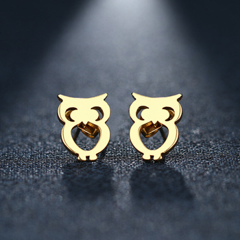 DOTIFI Stainless Steel Stud Earring For Women Man Owl Gold And Silver Color Lover s Engagement.jpg 350x350 - DOTIFI Stainless Steel Stud Earring For Women Man Owl Gold And Silver Color Lover's Engagement Jewelry Drop Shipping