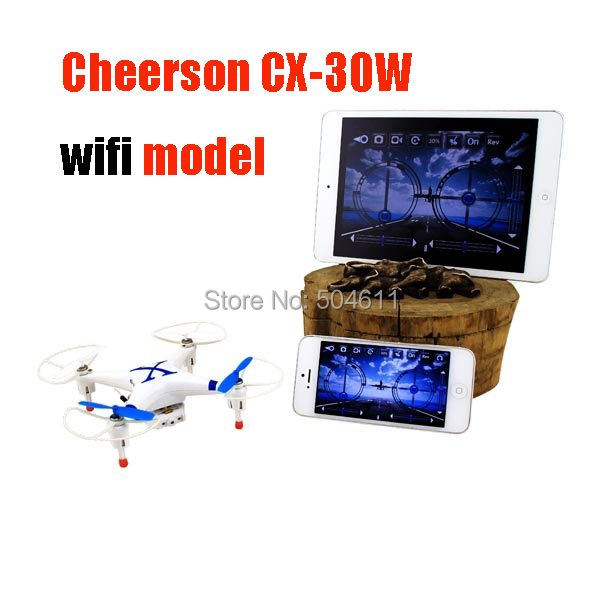 Cheerson CX-30W WiFi CX30W Model 4-CH Wi-Fi RC Quadcopter Drone w FPV 30W Camera & 6-Axis Gyro IOS Controller APP RTF
