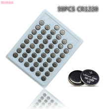 Hot sale 50pcs 100% New CR1220 3V Lithium Button Cell Batteries Watch Coin Battery Car Remote Control ECR1220 LM1220