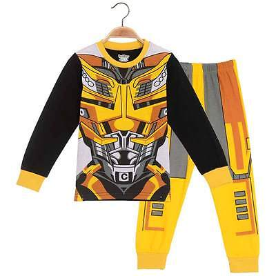 2016 Baby Kids Toddler Boys Pajamas Cartoon Character Long Sleeve Snug Outfit Clothes T-shirt Costume Party Set 1-6Y 2015 new arrive super league christmas outfit pajamas for boys kids children suit st 004