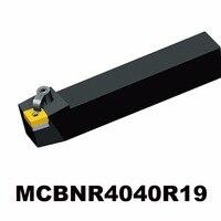 ZCC. CT MCBNR4040R19 M suportes de ferramenta de fixação Externa ferramentas de torneamento Torno CNC Titular Ferramenta Para INSERÇÃO CNMG CNMG19
