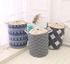 NEW Folk-custom Laundry Basket Foldable Bath Hamper Dirty Clothes Drawstring Cover Storage Bags Bathroom Rack Clothes Organizer