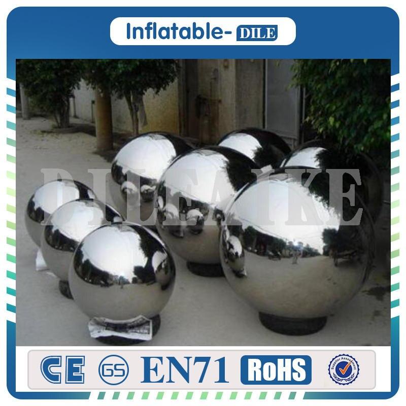Envío libre 4 unidades a puerta bola inflable del PVC bola inflable del espejo 3 m diámetro globo inflable para la venta