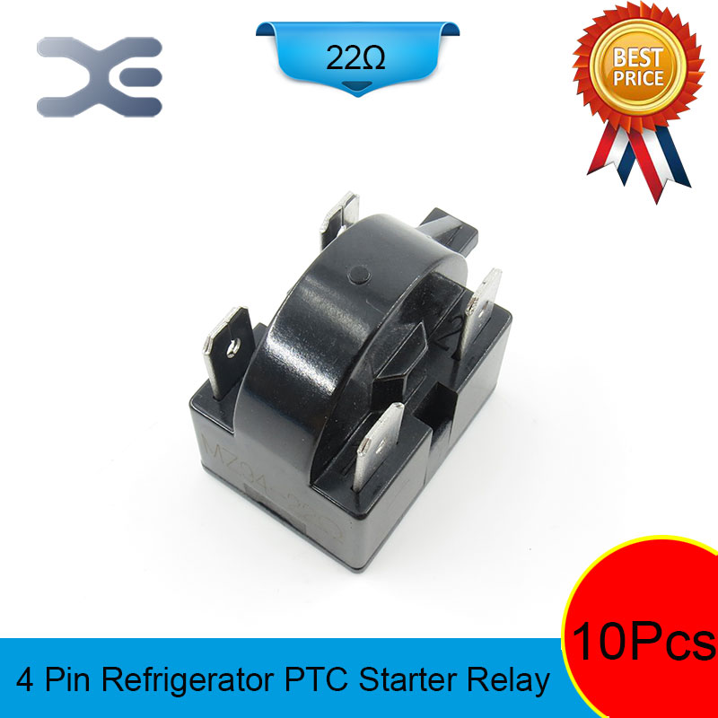 цена на 10PCS PTC 4PIN MZ94-22OHM Starter Parts Display Refrigerator Accessories Refrigerator Starter Relay Repair Of Refrigerators