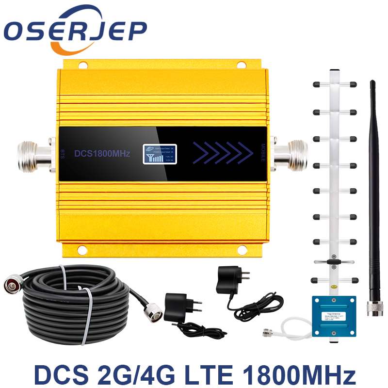 LCD Display GSM Repeater 1800Mhz 4G Cellular Signal Booster Cell Signal Amplifier booster DCS 1800 Mobile