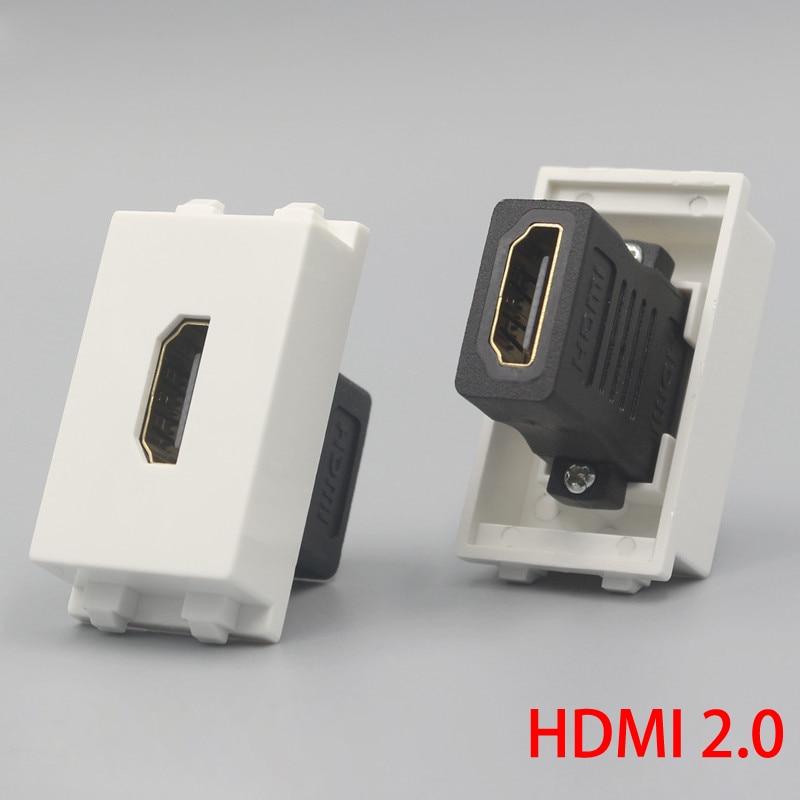 1 unidade hdmi2.0 versão fêmea ao conector fêmea do entalhe do soquete 23x36mm plugue diretamente hdmi para a placa da cara da parede