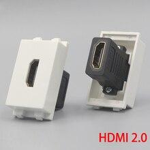 1 unité HDMI2.0 Version femelle à femelle prise 23x36mm connecteur de fente directement brancher HDMI pour plaque frontale murale
