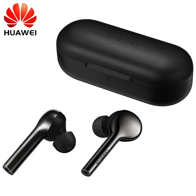 Originale HUAWEI FreeBuds Senza Fili di Bluetooth del Trasduttore Auricolare con Il Mic di Musica di Sport di Modo di Tocco Auricolare Handfree Dinamico + Equilibrio Armatur