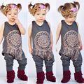 Crianças 0-5 T Da Criança Do Bebê Da Menina Macacão de Algodão Mistura Roupas Cor Cinza Estilo Boemia Jumpsuit Playsuit Romper Outfit 21