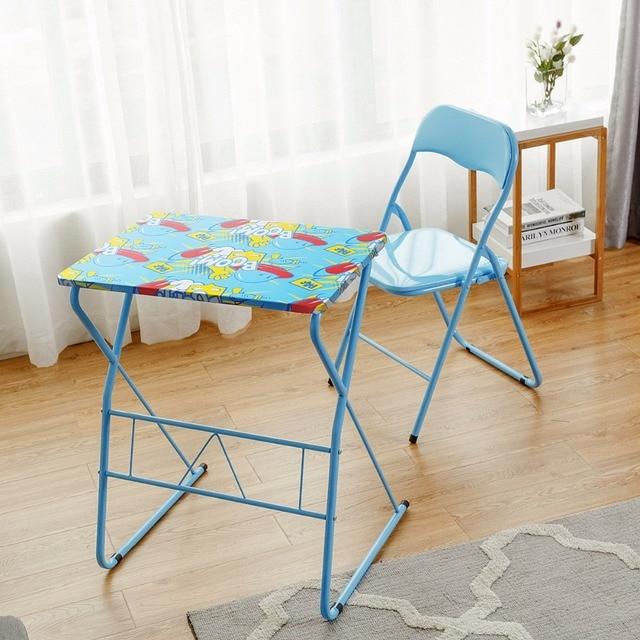 Giantex Kids Folding Table Chair Set Study Writing Desk Student