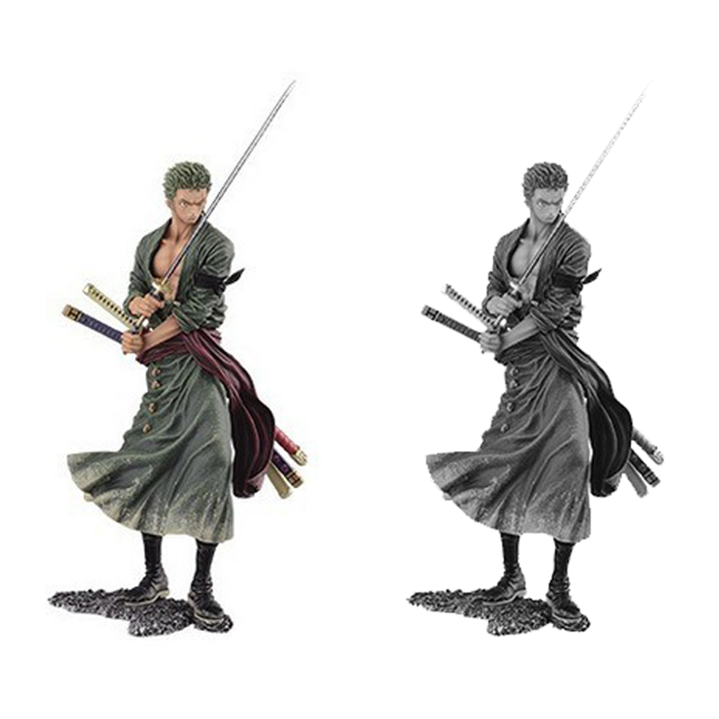 20cm Japanese One Piece Roronoa Zoro Cartoon Anime Action Figure PVC Model Toy Doll Gift Collection Heros Figurine Decor RT221 anime one piece fire fist ace handsome model garage kit pvc action figure classic collection toy doll