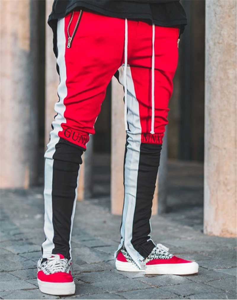 2020 New Spring Brand Gym Sport Pants Men Joggers Patchwork Fitness Bodybuilding Mens Running Pants Runners Clothing Sweatpants 3