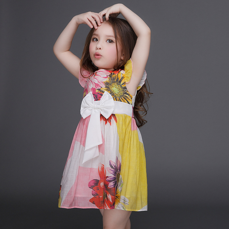 Summer baby kids girls clothes cotton dress party daily sweet Princess dress