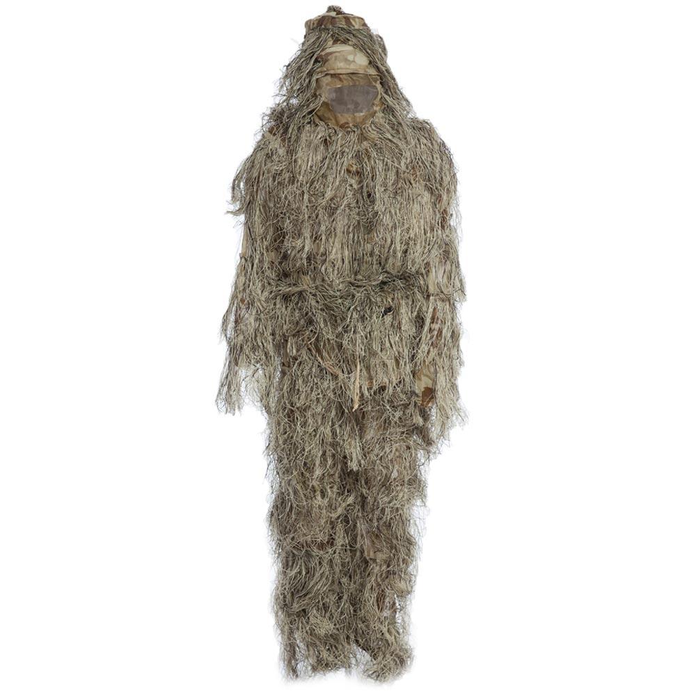 Vêtements de chasse Ghillie Costume CS Camouflage Costumes Ensemble 3D Woodland Sniper Chasse Déguisement Uniforme Sniper Jungle Militaire Costume