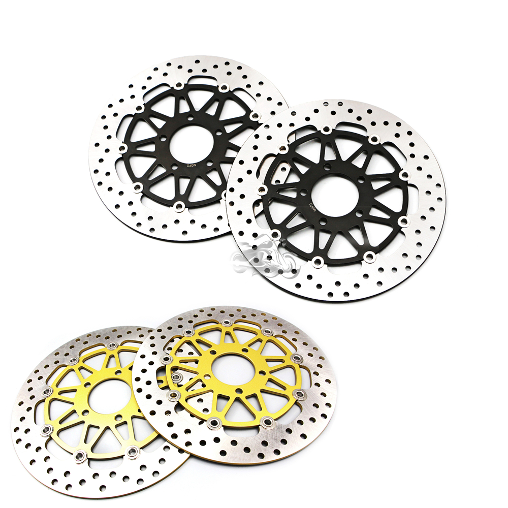 Floating Front Brake Disc Rotor For Motorcycle Suzuki GSX600R GSXR600/750 1997-2003 GSX-R1000 2001-2002 k1 New mfs motor front rear brake discs rotor for suzuki gsxr 600 750 1997 1998 1999 2000 2001 2002 2003 gsxr1000 2000 2001 2002 gold