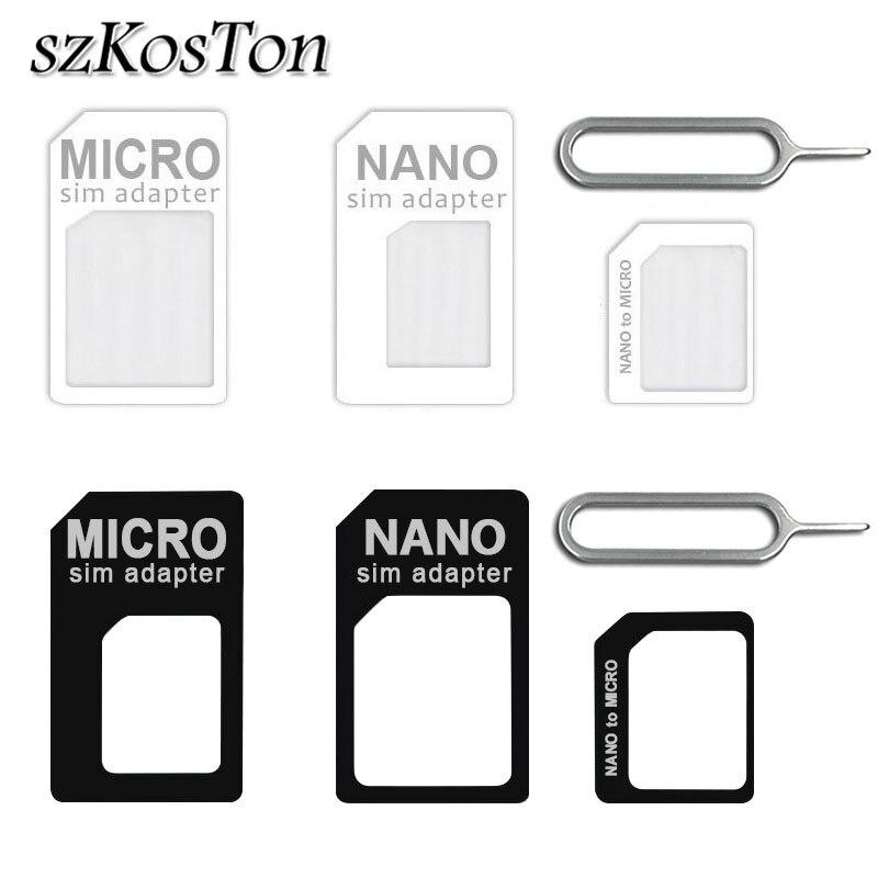 Dropship Micro Nano SIM Card Adapter Connector Kit For IPhone 6 7 Plus 5S Huawei P8 Lite P9 Xiaomi Redmi Note 4 Pro SIM Card