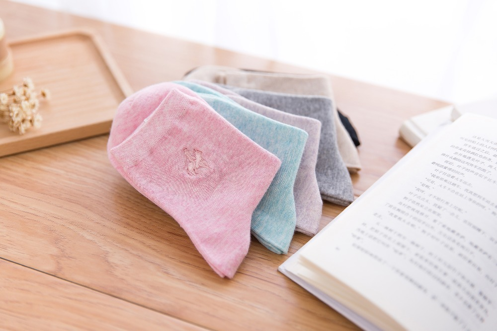 Candy colors new arrivals womens summer and autumn cotton and bamboo Pier polo socks females boat sport socks