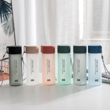 300ml Creative Frosted Sport Drinking Water Bottle Letter Pattern Leak Proof Outdoor Portable My Water Bottle For Student Gift