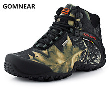 2016 Men New Arrival waterproof canvas hiking shoes boots Anti-skid Wear resistant breathable fishing shoes climbing high shoes