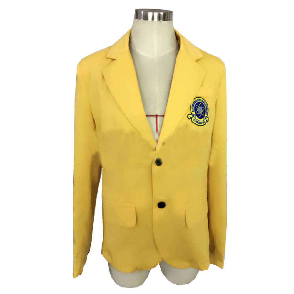 2017 New Movie Spiderman Homecoming Yellow School Uniform Cosplay Costume