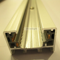Track System 18pcs 3 Wire 1m LED Track Light Rail And 17pcs Track Connector Free Ship