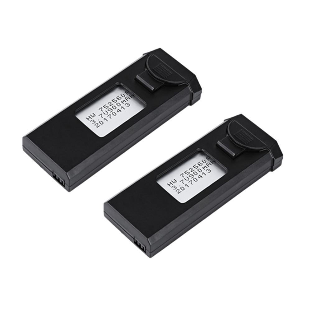 Original 2Pcs 3.7V 900mAh Rechargeable LiPo Battery for VISUO XS809W XS809 FPV Quadcopter RC Drone Aircraft Helicopter Battery