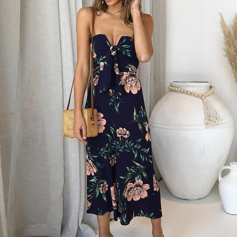 e8f7a01bc6 Ursohot Women Rompers Overalls Strapless Sexy Jumpsuits Floral Print Long  Bodysuits Sexy Female Summer Jumpsuit Beach