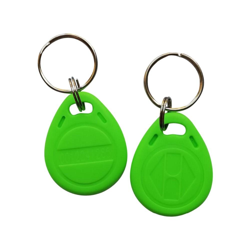 125khz LF TK4100 EM4100 ABS Waterproof Green RFID Keyfob Tag -100pcs