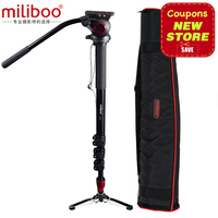 miliboo MTT704A Portable Aluminium Tripod for Professional Camera Camcorder/Video/DSLR Stand,Half Price of Manfrotto