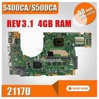 S400CA Motherboard 2117 CPU For ASUS S400C S400CA S500CA S500C Laptop motherboard S400CA Mainboard S400CA Motherboard test OK