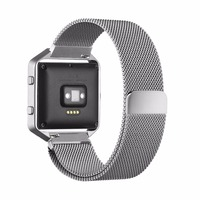 For Fitbit Blaze Metal Frame Housing And Milanese Loop Stainless Steel Bracelet Strap Band For Fitbit
