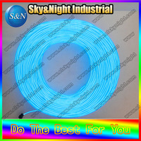 Free shipping High brigtness 3.2mm diameter 100m EL glowing Wire/ el flashing cable neon rope with inverter