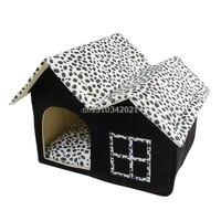 Local de luxo Topo Duplo Portátil Casa do animal de Estimação Do Gato Do Cão Cama Dormir Aconchegante e confortável Cama de Cachorro
