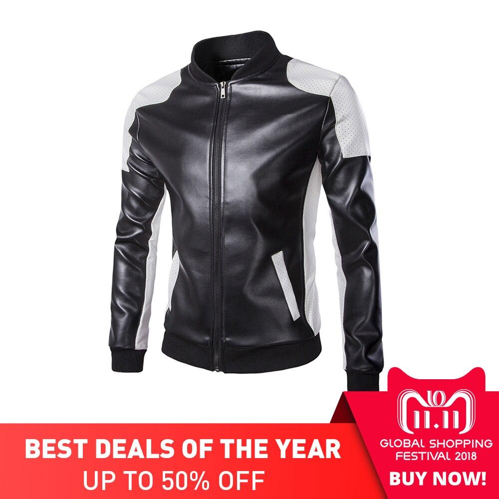 все цены на Herobiker Classical Motorcycle Jacket Men Vintage Retro Casual PU Leather Jacket Punk Windproof Biker Motorcycle Moto Jacket онлайн