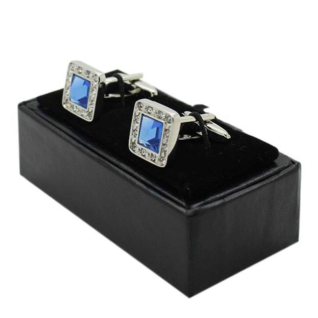 Portable Multi functional Men Cufflinks Tie Clip Ring Storage Box