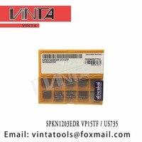 Gratis verzending hoge kwaliteit SPKN1203EDR VP15TF/SPKN1203EDR US735 cnc carbide draaiwisselplaten